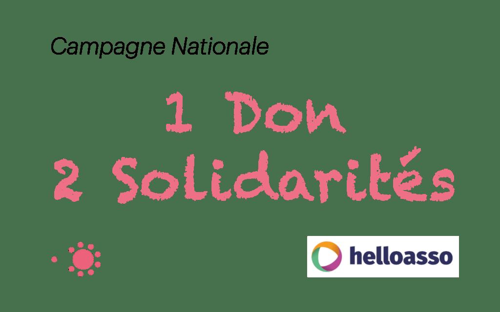 1 don, 2 solidarités : une nouvelle campagne au profit des plus démunis